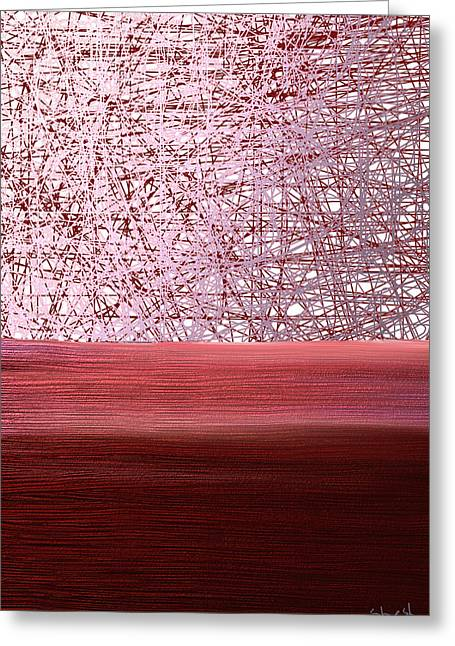 Shesh Tantry Greeting Cards - Abstract no. 70 Greeting Card by Shesh Tantry