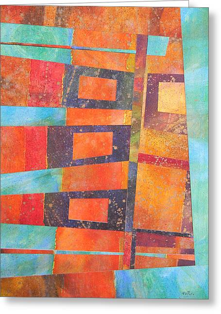 Formes Greeting Cards - Abstract No.1 Greeting Card by Adel Nemeth