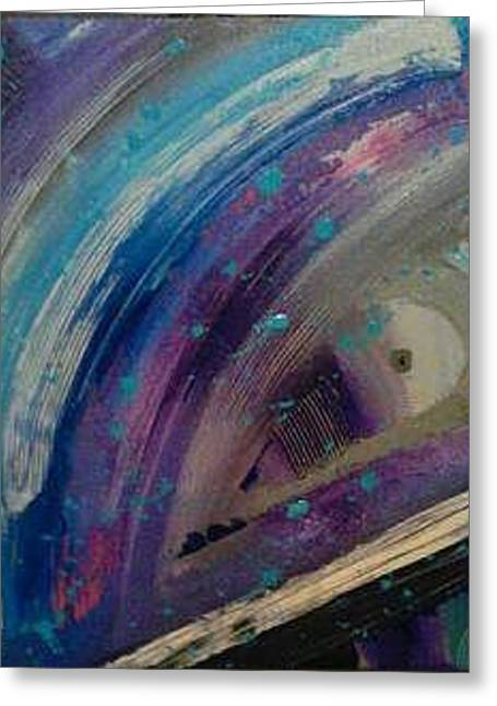 Pollack Mixed Media Greeting Cards - Abstract number 7 Greeting Card by Marco Farella