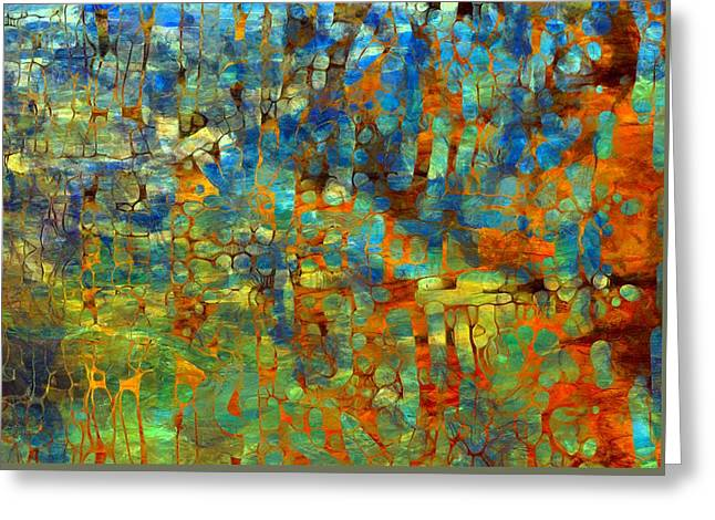 Mosaic Art Mixed Media Greeting Cards - Abstract Number Four Greeting Card by Dan Sproul
