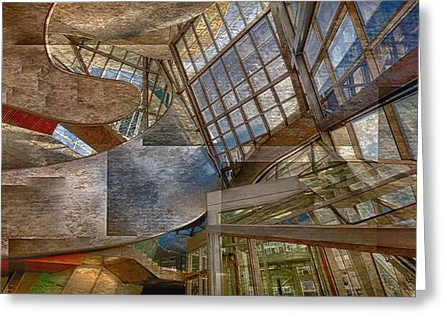 Abstract Of Architectual Expression Greeting Card by Ron Harris