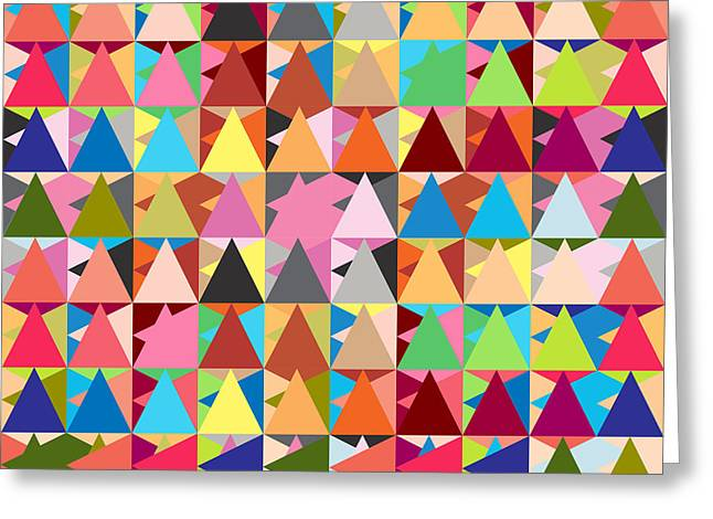 Geometric Shape Greeting Cards - Abstract Of Colors  Greeting Card by Mark Ashkenazi