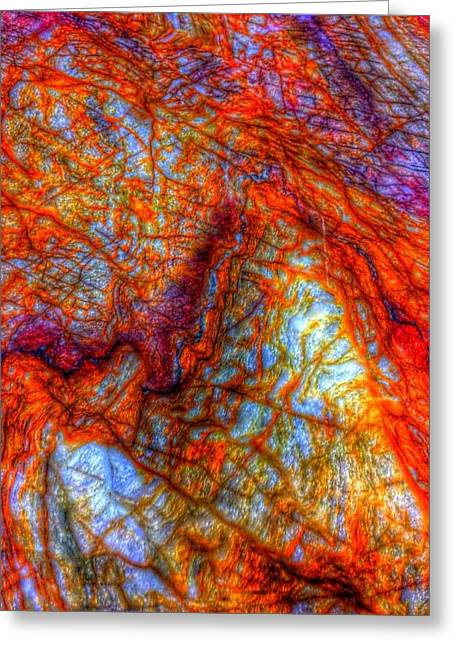 Recondite Greeting Cards - Abstract of Granite Greeting Card by Michael French