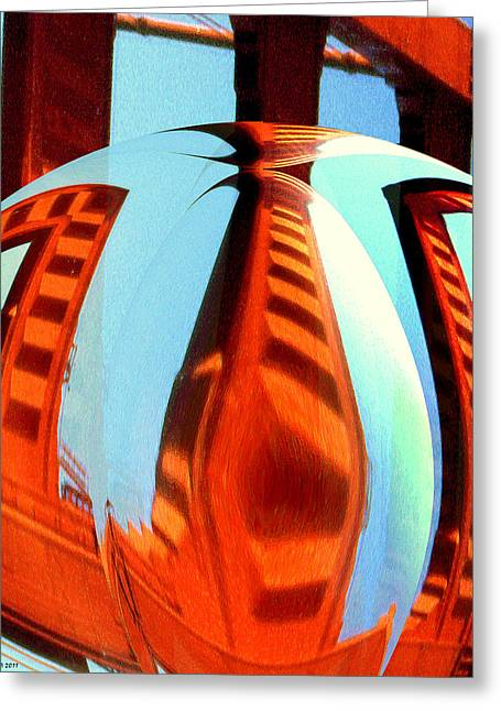 Abstract One - Modern Art Greeting Card by Art America Online Gallery