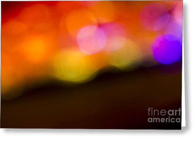 Purple Abstract Greeting Cards - Abstract orange yellow purple Greeting Card by Marvin Spates