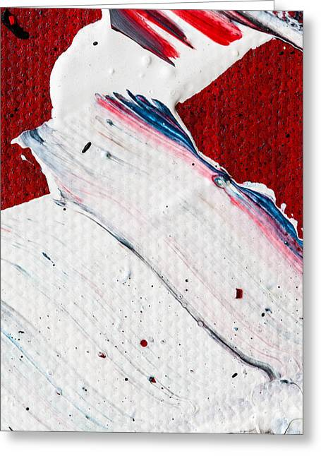Large Scale Greeting Cards - Abstract Original Artwork One Hundred Phoenixes Untitled Number Nine Greeting Card by Maria  Lankina