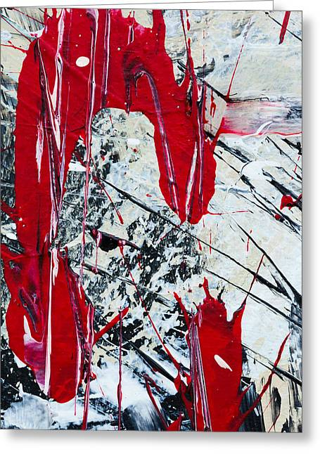 Large Scale Greeting Cards - Abstract Original Painting Untitled Nine Greeting Card by Maria  Lankina