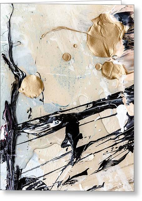 Emotional Art Print Greeting Cards - Abstract Original Painting Untitled Twelve Greeting Card by Maria  Lankina
