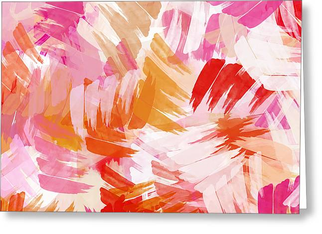 Assorted Paintings Greeting Cards - Abstract Paint Pattern Greeting Card by Christina Rollo