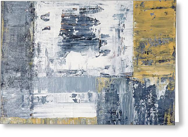 Richter Greeting Cards - Abstract Painting No. 3 Greeting Card by Julie Niemela