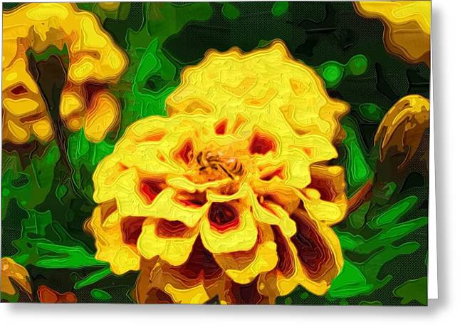 Printables Greeting Cards - Abstract Paintings Flowers Greeting Card by Victor Gladkiy