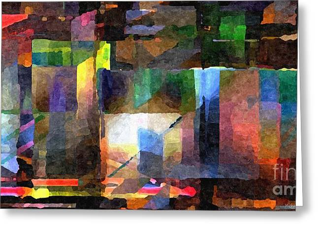 Distortion Greeting Cards - Abstract Palette March 2013 - 002 - AMCG Greeting Card by Michael C Geraghty