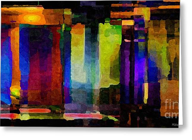 Distortion Greeting Cards - Abstract Palette March 2013 - 007 - AMCG Greeting Card by Michael C Geraghty
