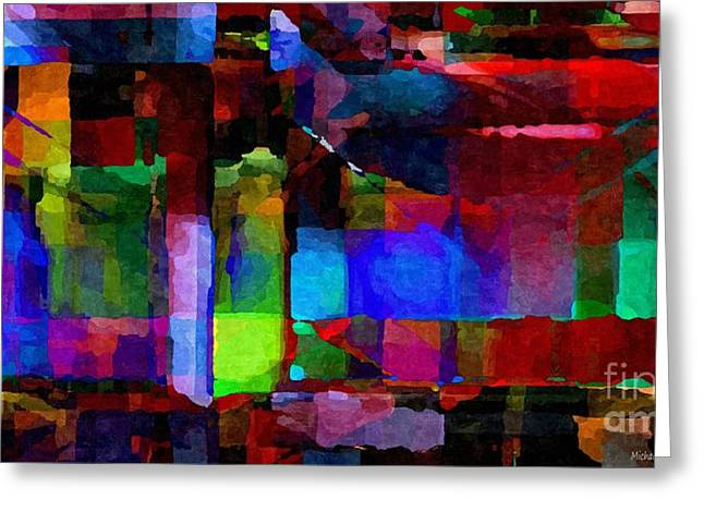 Distortion Greeting Cards - Abstract Palette March 2013 - 011 - AMCG Greeting Card by Michael C Geraghty