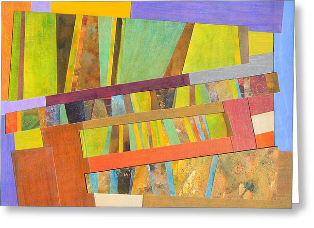 Adel Nemeth Greeting Cards - Abstract Paper Collage No 2 Greeting Card by Adel Nemeth