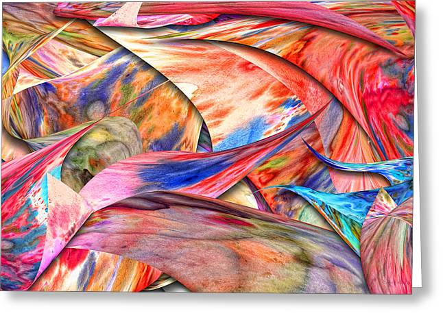 Distortion Photographs Greeting Cards - Abstract - Paper - Origami Greeting Card by Mike Savad