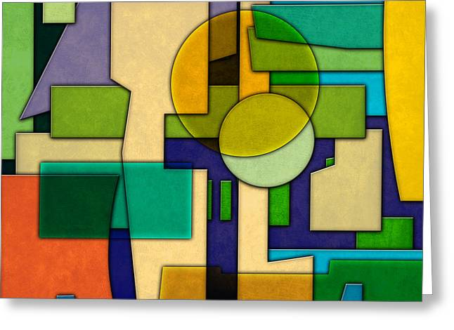 Abstract Shapes Greeting Cards - Abstract Pattern 4 Greeting Card by Gary Grayson