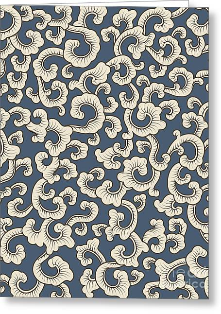 Abstract Style Greeting Cards - Abstract pattern on blue background Greeting Card by Pablo Romero