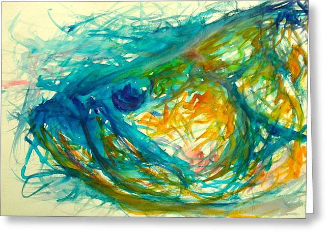 Hammerhead Sharks Greeting Cards - Abstract Poon  Greeting Card by Yusniel Santos