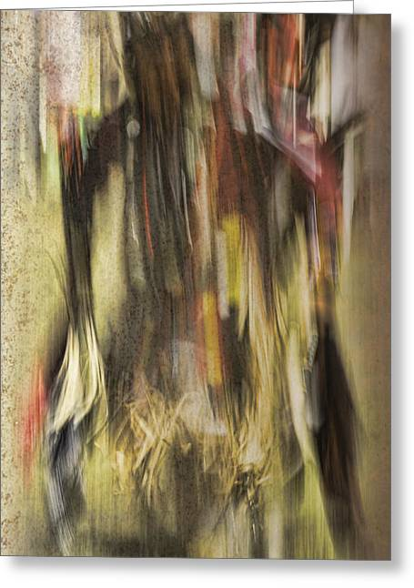 Mohicans Greeting Cards - Abstract Pow Wow Dancer Greeting Card by Thomas Young