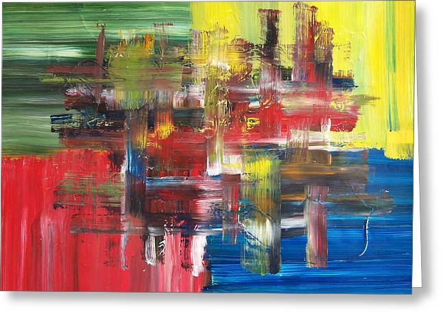 Above The Sofa Art Greeting Cards - Abstract Prime Greeting Card by Dan Engh
