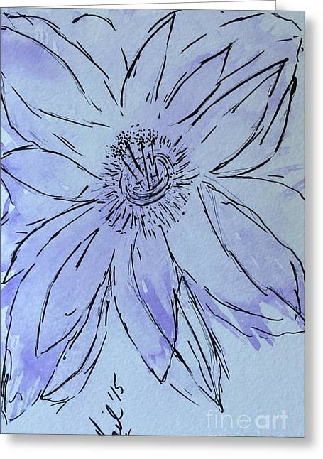 Recently Sold -  - Purple Abstract Greeting Cards - Abstract purple hibiscus  Greeting Card by Gail Nandlal