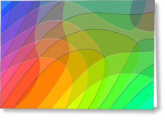 Flooding Digital Art Greeting Cards - Abstract Rainbow 66 Greeting Card by L Brown