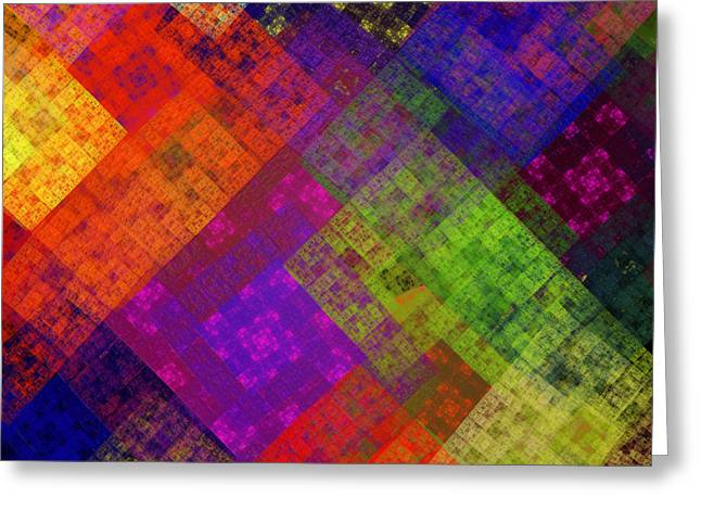 Abstract - Rainbow Infusion - Square Greeting Card by Andee Design