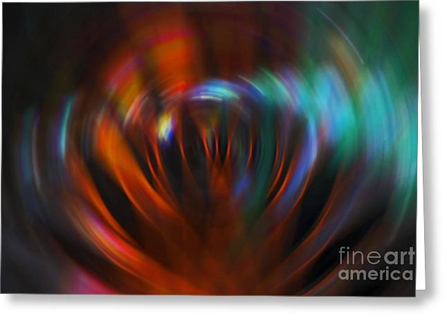 Abstract Red And Green Blur Greeting Card by Marvin Spates
