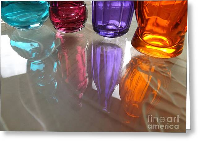 Purple Abstract Greeting Cards - Abstract Reflections #4 Greeting Card by Robyn King