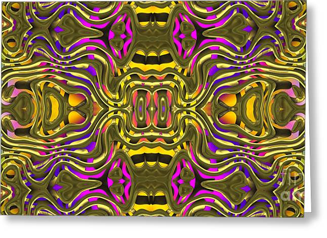 Abstract Digital Jewelry Greeting Cards - Abstract Rhythm - 12 Greeting Card by Hanza Turgul