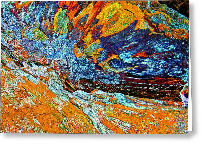 Abstract Rock Greeting Card by Karen Adams