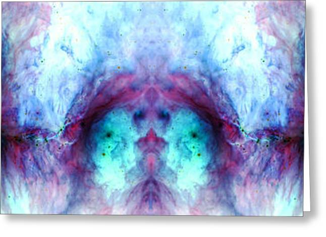 Abstract Rorschach Inkblot Style Reflection 1  Greeting Card by The  Vault - Jennifer Rondinelli Reilly