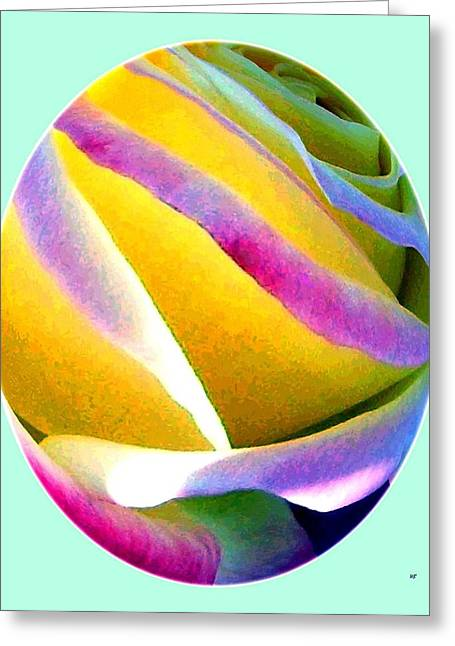 Abstract Digital Greeting Cards - Abstract Rose Oval Greeting Card by Will Borden