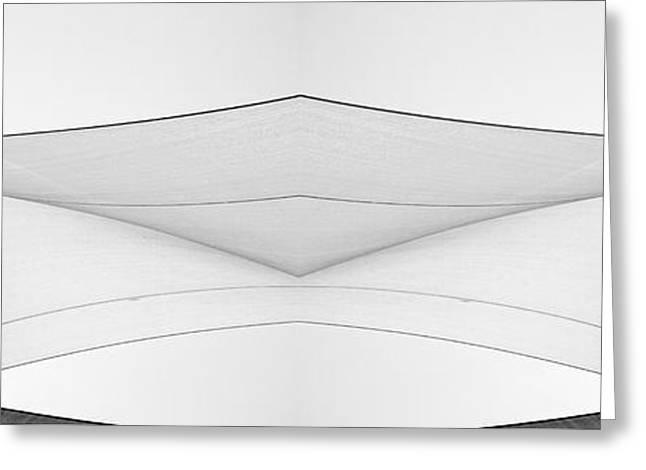 Sailboat Art Greeting Cards - Abstract Sailcloth YCC103 Greeting Card by Bob Orsillo