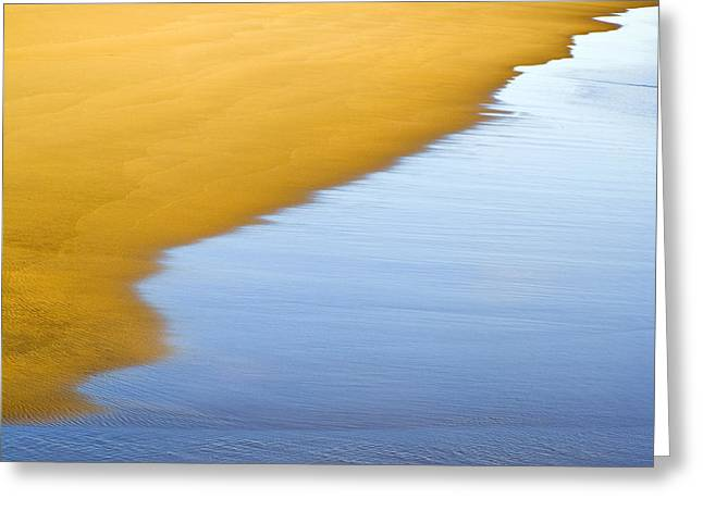 Beachscape Greeting Cards - Abstract Seascape Greeting Card by Frank Tschakert