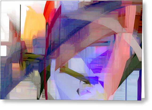 Shower Curtain Greeting Cards - Abstract Series 7 Greeting Card by Rafael Salazar