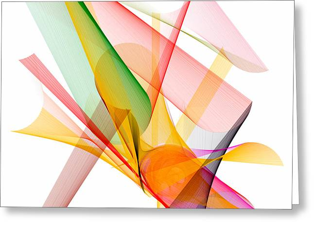 Shower Curtain Greeting Cards - Abstract Series 8 Greeting Card by Rafael Salazar