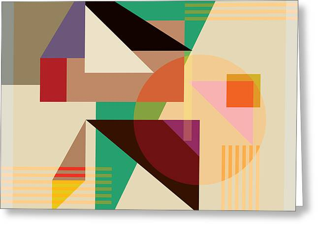 Modern Digital Greeting Cards - Abstract Shapes #4 Greeting Card by Gary Grayson