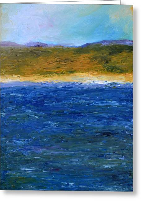 Recently Sold -  - Michelle Greeting Cards - Abstract Shoreline Greeting Card by Michelle Calkins