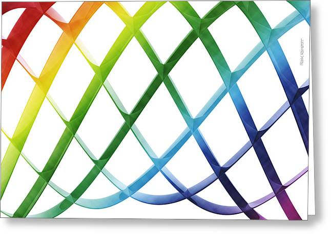 Render Greeting Cards - Abstract Sinus Curve Colorful Greeting Card by Frank Ramspott