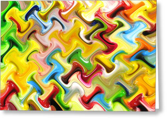 Abstract  Six  Of  Twenty  One Greeting Card by Carl Deaville