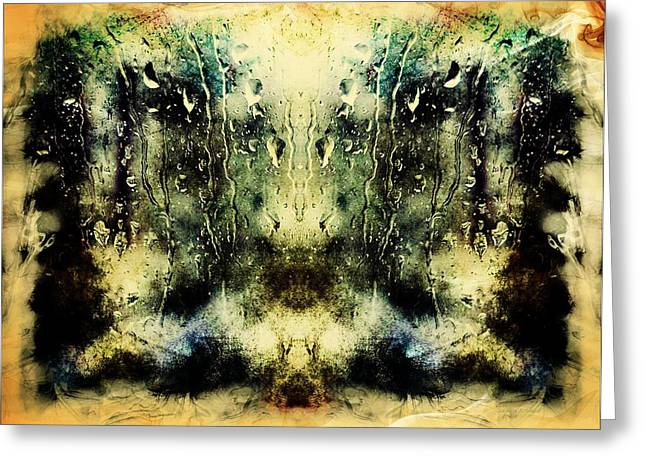 Abstract - Smoke And Water Greeting Card by Melissa Bittinger