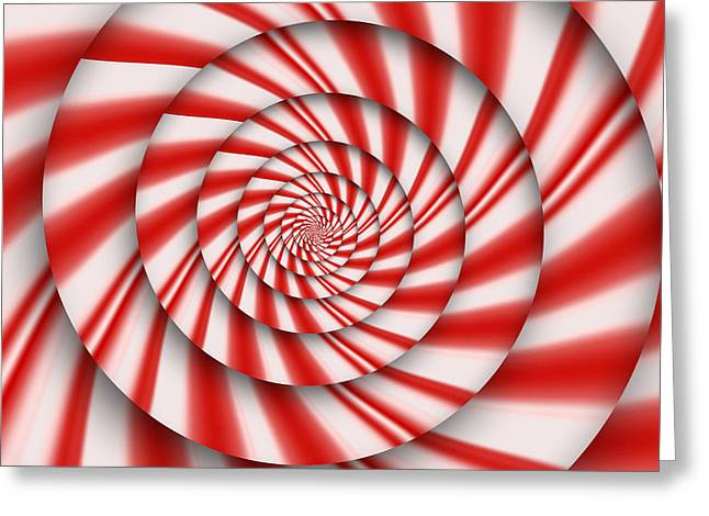 Mikesavad Digital Greeting Cards - Abstract - Spirals - The power of mint Greeting Card by Mike Savad
