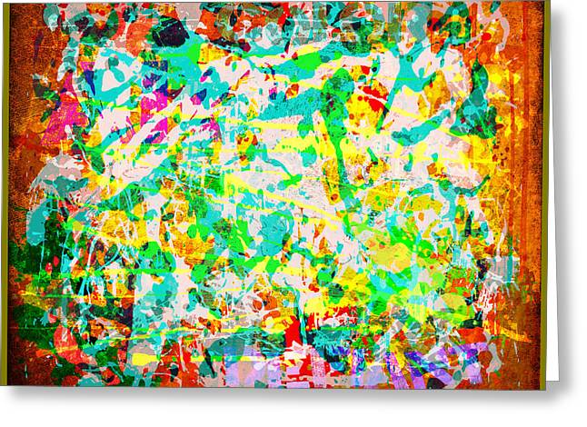 Abstract Splatter Greeting Card by Gary Grayson