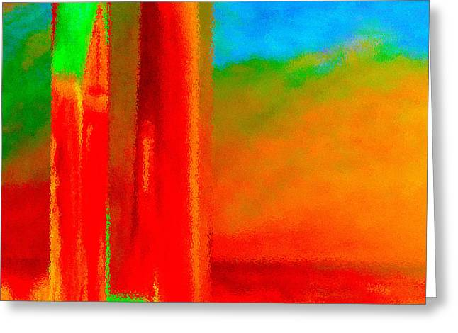 Splashy Paintings Greeting Cards - Abstract Splendor II Greeting Card by Glenna McRae