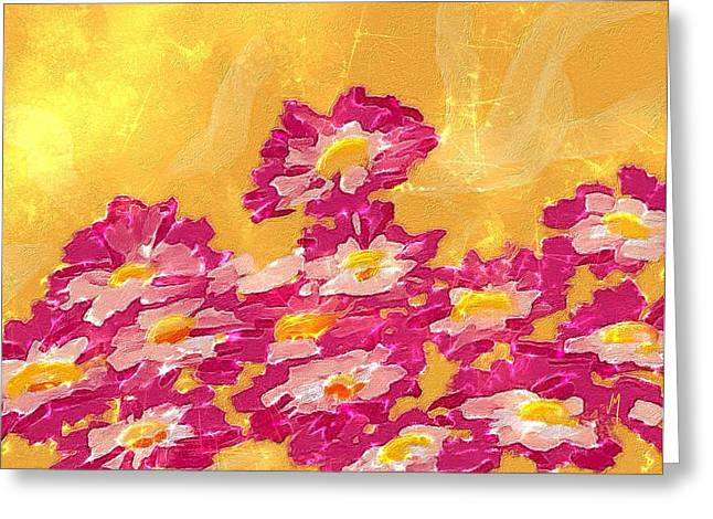 Season Flower Greeting Cards - Abstract spring Greeting Card by Veronica Minozzi