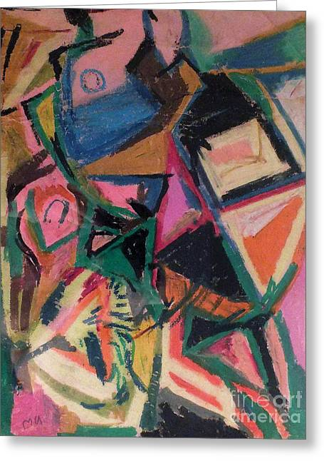 Spirituality Pastels Greeting Cards - Abstract Study 1984 Greeting Card by David Baruch Wolk