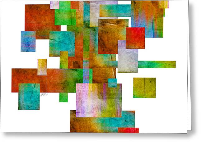 Abstract Study 22 Abstract- Art Greeting Card by Ann Powell