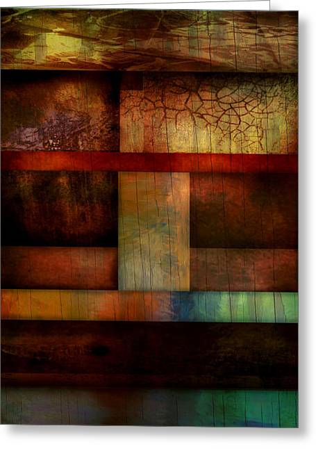 Brown Toned Art Greeting Cards - Abstract Study Five  Greeting Card by Ann Powell